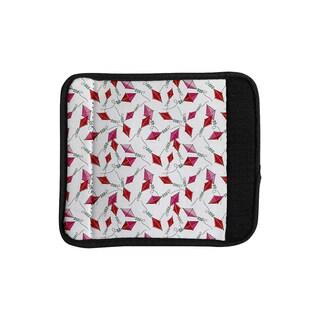 KESS InHouse Heidi Jennings 'Go Fly A Kite' White Pink Luggage Handle Wrap