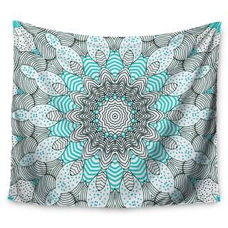 Kess InHouse Monika Strigel 'Dots and Stripes Mint' 51x60-inch Wall Tapestry