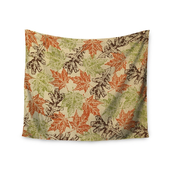 KESS InHouse Heidi Jennings 'Leaf it to Me' Green Brown 51x60-inch Tapestry