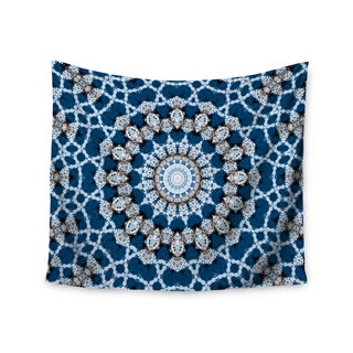 KESS InHouse Iris Lehnhardt 'Mandala II' Blue Abstract 51x60-inch Tapestry
