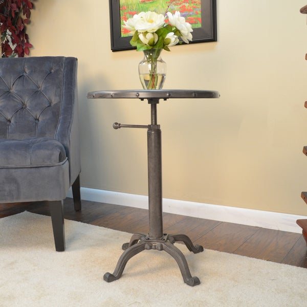 Luna Industrial Metal Adjustable Vintage Table  Cfmtrt