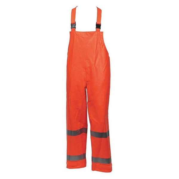 Eclipse O44122 ANSI 107 Class 3 Flame Resistance Hi-Vis Snap Fly Front Overall With 2-inch Silver Reflective Tape