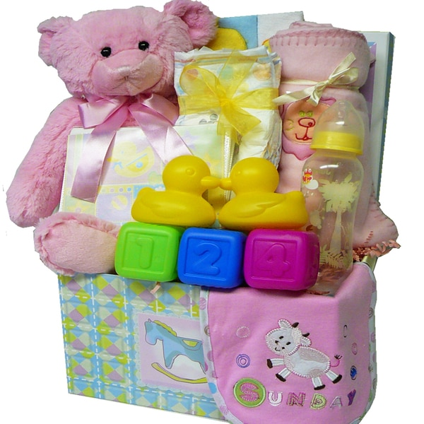 Art of Appreciation Sweet Baby Care Gift Box With Teddy Bear Package