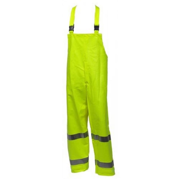 Eclipse O44122 NSI 107 Class 3 Flame Resistance Hi-vis Snap Fly Front Overall with 2-inch Silver Reflective Tape