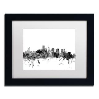 Michael Tompsett 'Boston MA Skyline B&W' Matted Framed Art