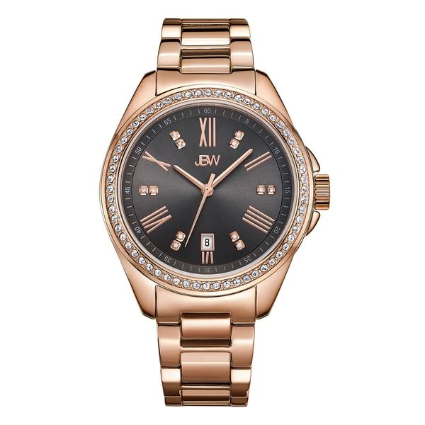 JBW Capri Rose/Black Gold-plated Stainless Steel/Mineral Diamond Women's Watch 19409897