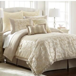 Karan Champagne Jacquard 8-piece Comforter Set