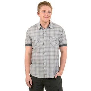 Vance Co. Men's Short-sleeve Button-up Casual Shirt
