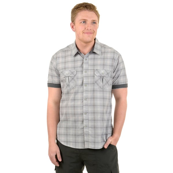 Vance Co. Men's Short-sleeve Button-up Casual Shirt