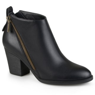 Journee Collection Women's 'Bristl' Zippered High Heeled Booties