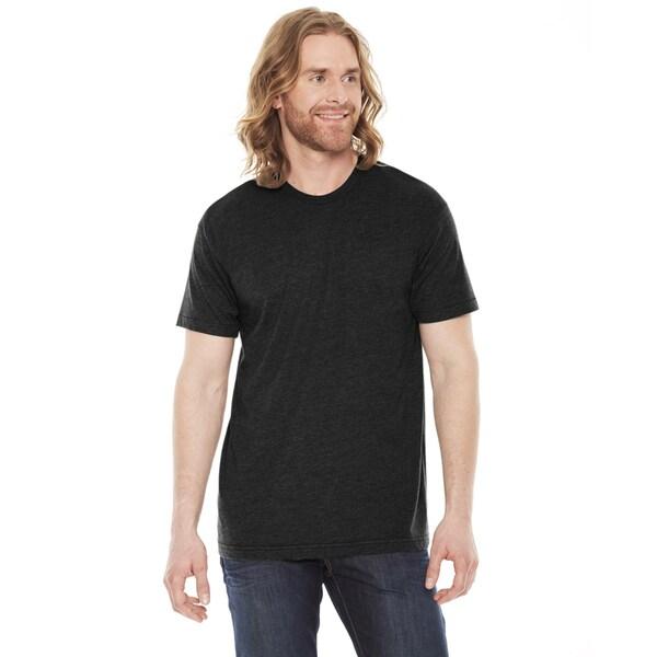 American Apparel Unisex 50/50 Heather/Black Short Sleeve T-shirt 19410489