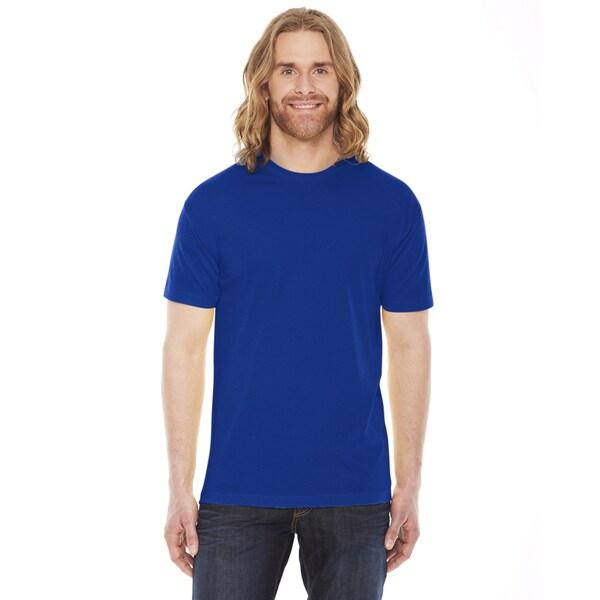 American Apparel Unisex Blue Short Sleeve T-Shirt