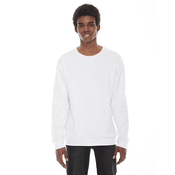 American Apparel Unisex Flex White Fleece Drop Shoulder Crewneck Pullover