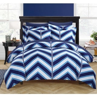 Chic Home Dallas Navy 3-piece Duvet Cover Set