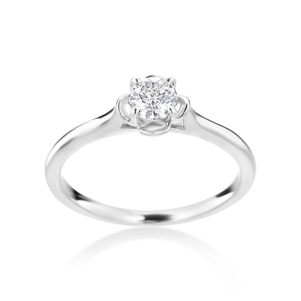 Summer Rose 14k White Gold 1/3ct TDW Diamond Ring