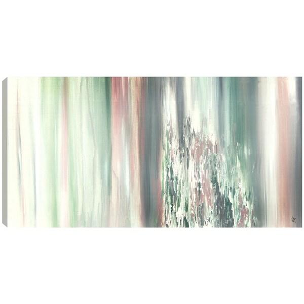 Hobbitholeco. Sanjay Patel, Rocky Green, Abstract, Gel Brush Finish Canvas Wall Art Decor, Gallery Wrapped 18X24 19411128