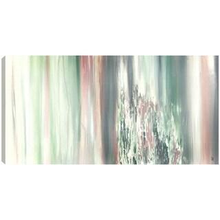Hobbitholeco., Sanjay Patel, Rocky Green, Abstract, Hand Applied Gel Brush Finish Canvas