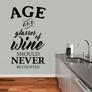 Sweetums 'Age and Glasses of Wine' 34-inch x 60-inch Wall Decal