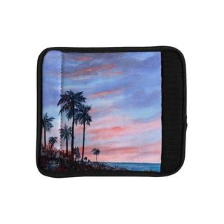 KESS InHouse Rosie Brown 'Florida Sunset' Palm Tree Luggage Handle Wrap