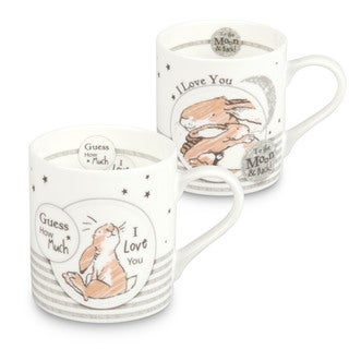 Konitz Waechtersbach 'Guess How Much I Love You' Scribble Bone China Mugs (Set of 2)