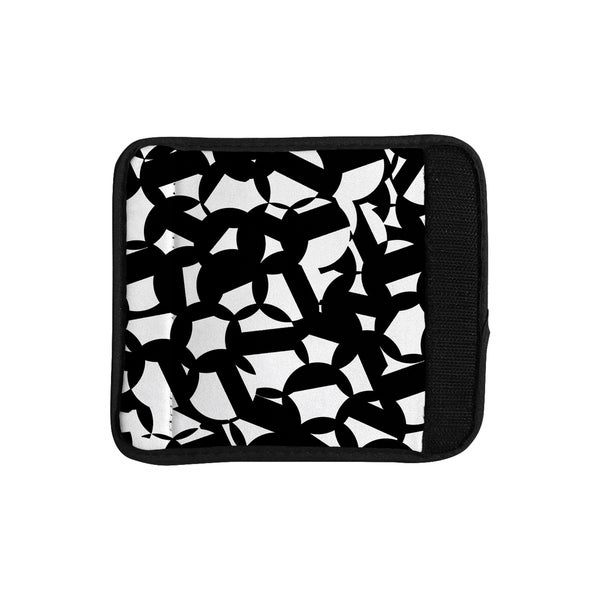 KESS InHouse Gabriela Fuente 'Geo Chic' Black White Luggage Handle Wrap