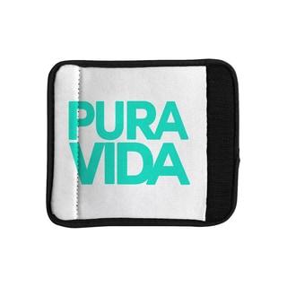 KESS InHouse Geordanna Cordero-Fields 'Turquoise Pura Vida' Blue White Luggage Handle Wrap