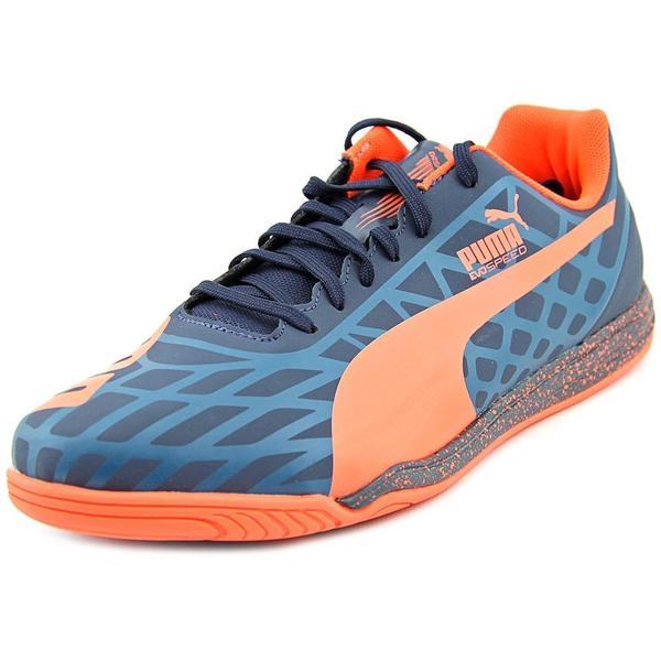 Puma Men's evoSpeed Star IV Blue/Orange Polyurethane/Rubber Athletic Shoes