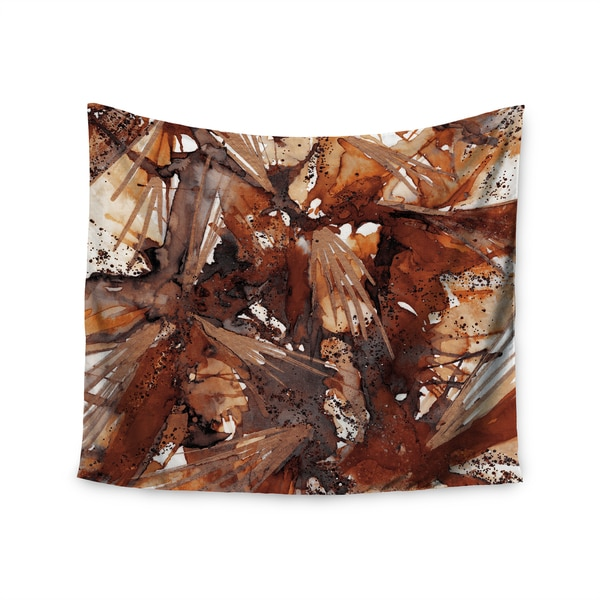 Kess InHouse Ebi Emporium 'Birds Of Prey - Rust Tan Brown' 51x60-inch Wall Tapestry