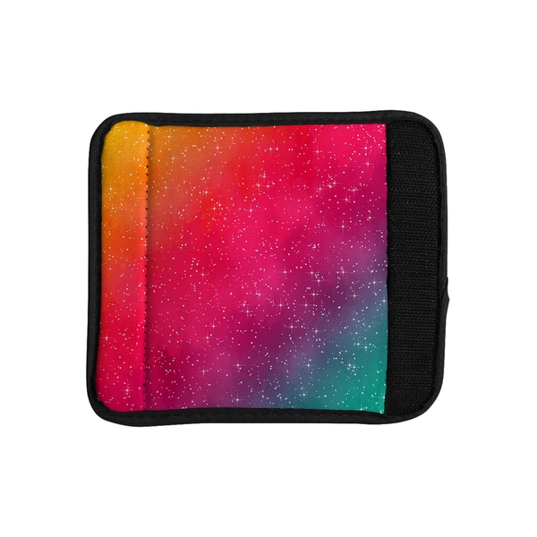 KESS InHouse Fotios Pavlopoulos 'Colorful Constellation' Pink Glam Luggage Handle Wrap