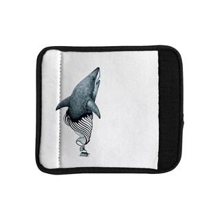 KESS InHouse Graham Curran 'Shark Record' Luggage Handle Wrap