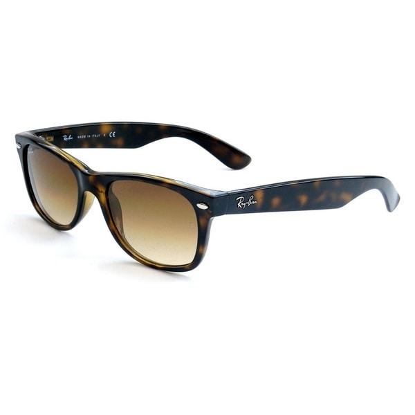 Ray-Ban RB2132 710 Brown/Tortoise Plastic 55-millimeter New Wayfarer Sunglasses