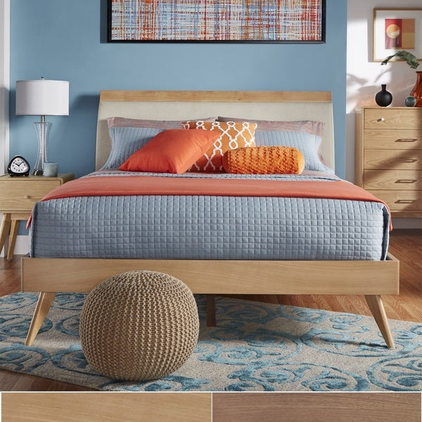 MID-CENTURY LIVING Penelope Danish Modern Tapered Platform Bed