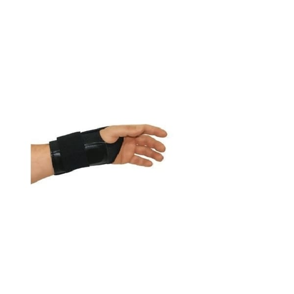 Fitted Elastic Right Hand Black Wrist Brace
