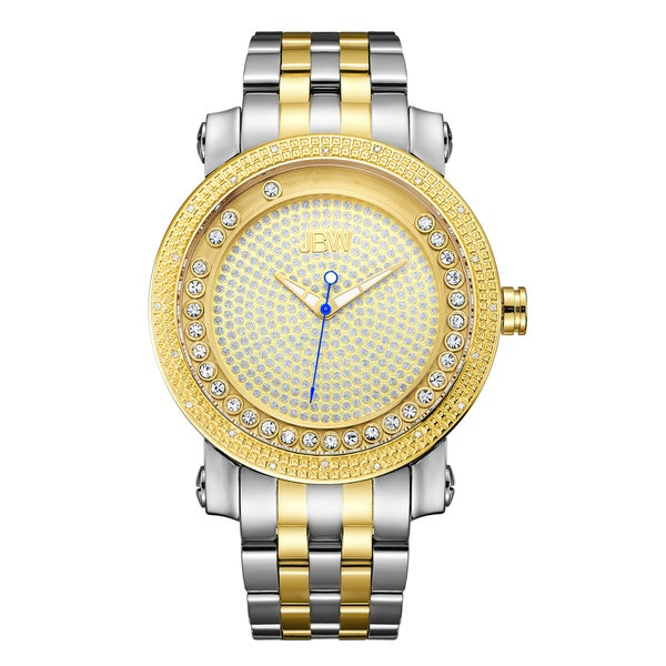 JBW Men's Hendrix Two-tone Stainless Steel and Gold Diamond Watch 19412501
