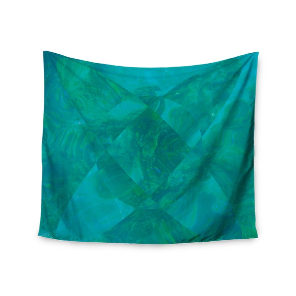 KESS InHouse Matt Eklund 'Under The Sea' Teal Green 51x60-inch Tapestry