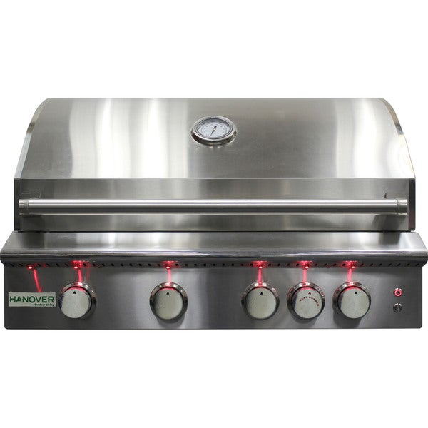 Hanover Grills Stainless Steel 32-inch Four-burner Built-in Natural Gas Grill