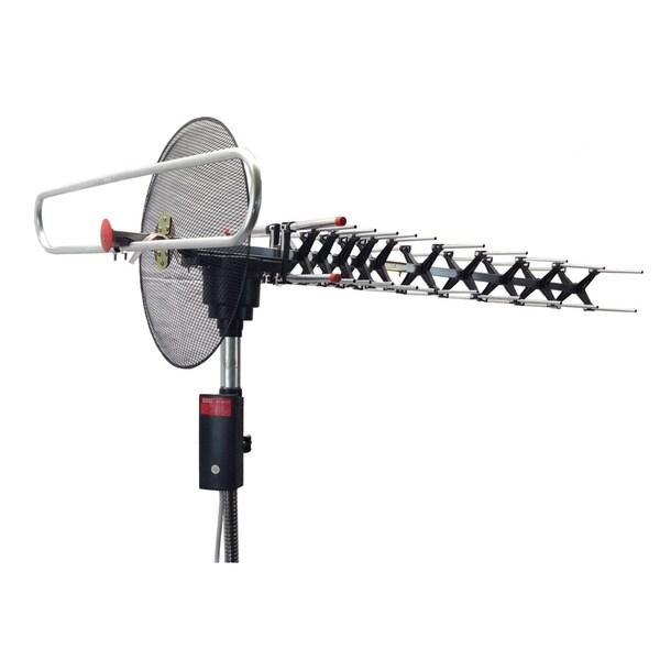 BoostWaves Digital Outdoor UHF/VHF/FM Signal Reception HDTV 360-degree Rotation Parabolic Focusing TV Antenna