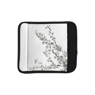 KESS InHouse Monika Strigel 'Cherry Sakura White' Floral Nature Luggage Handle Wrap