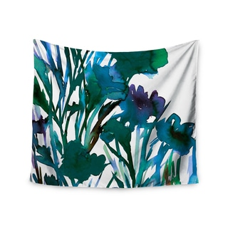KESS InHouse Ebi Emporium 'Petal For Your Thoughts Teal' Turquoise Green 51x60-inch Tapestry