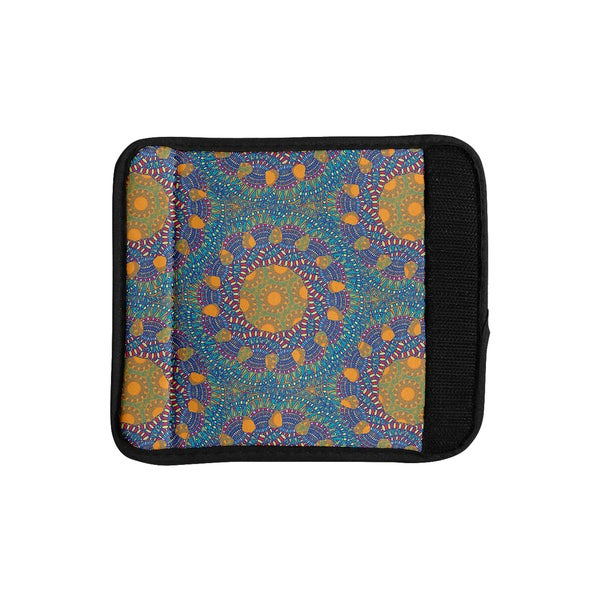 KESS InHouse Miranda Mol 'Prismatic Orange' Orange Blue Abstract Luggage Handle Wrap