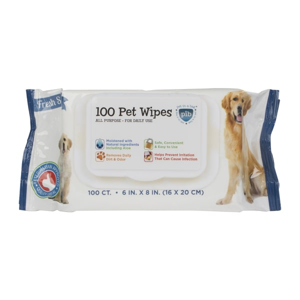 Pet Cleaning Dog/Cat Wipes (Case of 100)