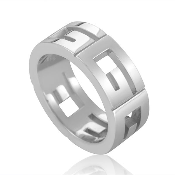 "Gucci 18K White Gold ""G"" Cutout Band Ring"