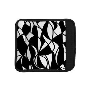 KESS InHouse Emine Ortega 'Sinuous' Black White Luggage Handle Wrap