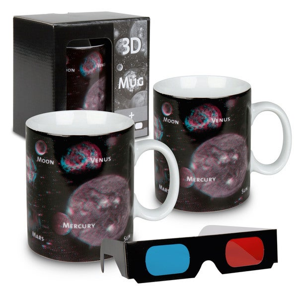 Konitz Waechtersbach Planets 3D Porcelain Mugs (Set of 2)