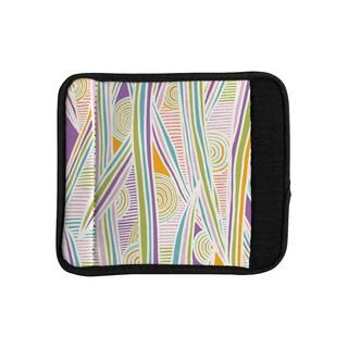 KESS InHouse Emine Ortega 'Graphique White' Luggage Handle Wrap