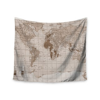 KESS InHouse Catherine Holcombe 'Emerald World' Vintage Map 51x60-inch Tapestry