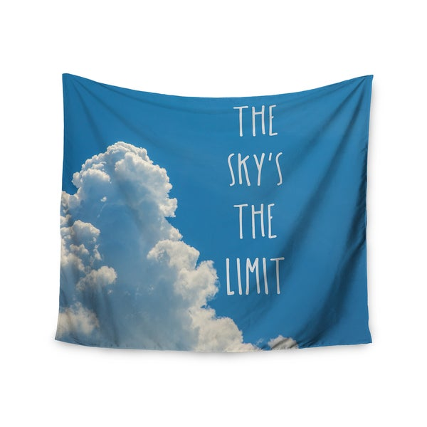 KESS InHouse Bruce Stanfield 'The Skys The Limit Square' Typography Nature 51x60-inch Tapestry