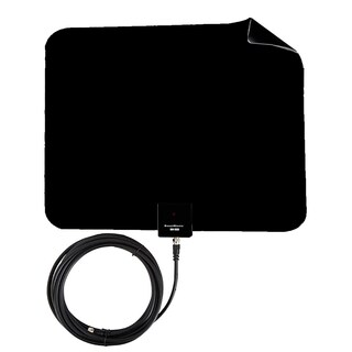 Boostwaves Razor 25 HDTV Flat Leaf Indoor Antenna with RG6 Cable