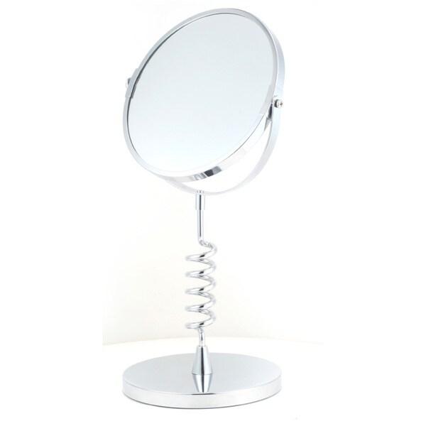Round 5x Magnification Spiral Stand Mirror