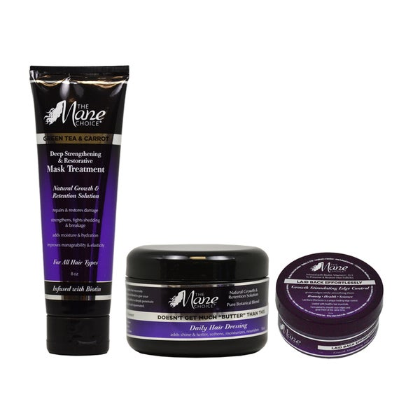 The Mane Choice Growth Stimulating Edge Control, Mask Treatment and Daily Hair Dressing Set